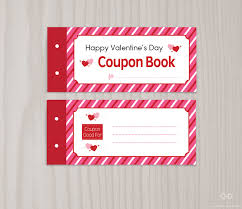 blank printable valentine u0027s day coupon book love coupons