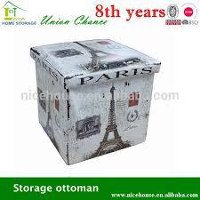 wonderful folding storage ottoman 15 cube faux leather folding