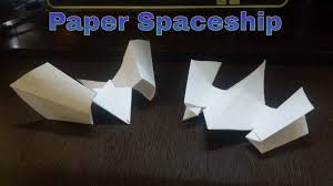 paper spaceship how to make a flying paper spaceship youtube