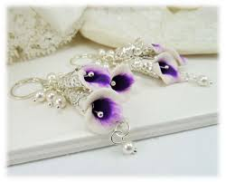 picasso calla purple picasso calla wedding jewelry set