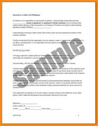8 how to write declaration letter parts of resume