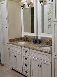 Fairfield Vanity Woodpro Vanity In Biscuit With Delta U0027vero U0027 Faucets In Champagne