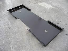 bobcat kubota quick attach attachment skid steer mount weld plate