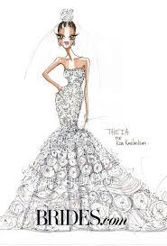 kim kardashian wedding dress sketches brides