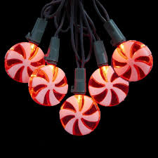 set of 20 and white led peppermint lights 4