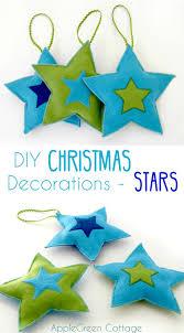 diy christmas decorations felt stars free pattern applegreen