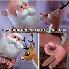 Mail Meme - dopl3r com memes hey rudolph something came in the mail for