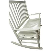 White Rocking Chair Outdoor by Mainstays Outdoor Wood Loveseat Rocker White Walmart Com