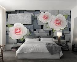 White Rose Bedroom Wallpaper Compare Prices On Rose Flower Wallpaper Online Shopping Buy Low