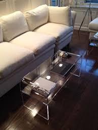 lucite waterfall coffee table amazon com southeastflorida acrylic coffee table with shelf for