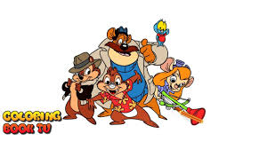chip u0027n dale rescue rangers coloring pages for kids youtube