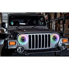 Jeep Wrangler Waterproof Interior Oracle Lighting 3943 333 Jeep Wrangler Halo Ring Led Colorshift 07 18