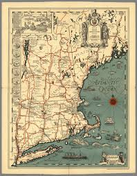 New England Maps by Map Of New England Presented By John Hancock Mutual Life