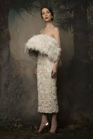birds of a feather 38 feathered wedding gown styles