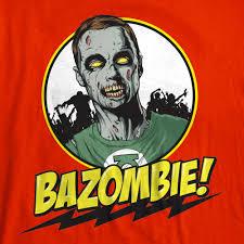 bazinga bazombie the big bang theory sheldon cooper zombie