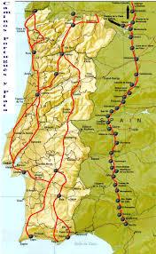 Camino Frances Map by Mapas De Etapas Del Camino De Santiago Por La Via De La Plata