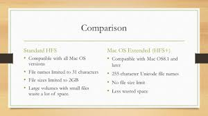 Wasted Space by File Systems Hierarchical File System Hfs For Mac Os Prepared