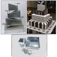 wedding cake pans tins multi layer cake pans topsy turvy square 4 tier weddi
