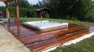 jacuzzi bois exterieur pour terrasse spa azurea piscine