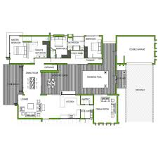 3 bedroom flat plan on half plot modern style simple floor plans