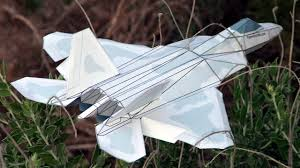 3d paper model airplanes print outs how to make an f 22 paper airplane 3d model youtube