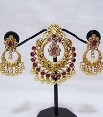 Buy Kundan Embellished Dangler Earrings Buy Pink Beads And Kundan Embellished Dangler Earrings Online