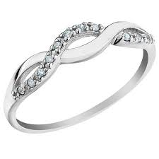gold promise rings infinity diamond promise ring in 10k white gold walmart