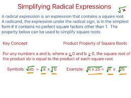 showme simplifying square roots with fractions in front