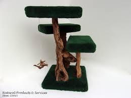 Cat Scratcher Order California Grapewood And Driftwood 4 Tier Handmade Green