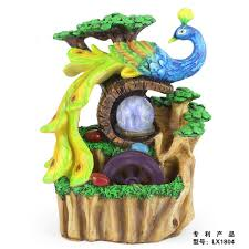 fountain for home decoration lucky peacock water fountain home decoration living room desktop