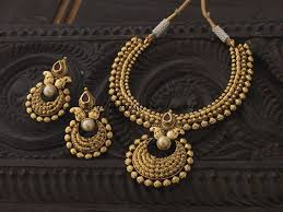fashion jewellery necklace sets images Antique necklace set from kushal fashion jewellery south india jpg