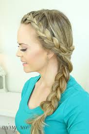 hair braid across back of head around french side braid