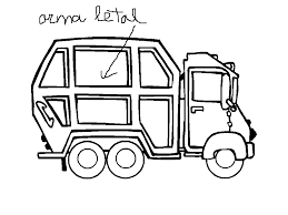 beautiful garbage truck coloring page 20 with additional free