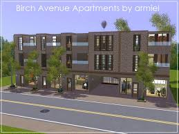 mod the sims birch avenue apartments