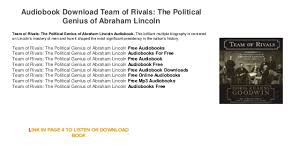 biography of abraham lincoln download audiobook download streaming trial team of rivals the political geni