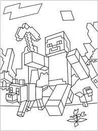 free coloringpages minecraft finally nerds