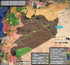 Syria Battle Map by Syria Situation Report February 2017 Mato U0027s Blog