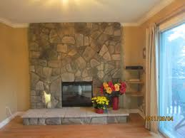 How To Resurface A Brick Fireplace by Top Resurface Brick Fireplace With Stone Design Decorating Classy