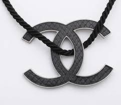 black large necklace images Chanel large black cc logo necklace at 1stdibs jpg