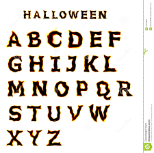 halloween font stock photo image 16305930