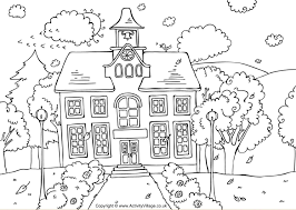 Coloring Page Of A School Free And Printable Back To School Coloring Pages In Pdf by Coloring Page Of A School