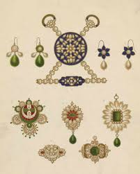 earrings ornament pendant and parts of a necklace worn by