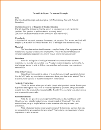 formal lab report template forensic report template awesome 4 formal lab report format high