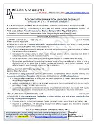 Sample Resume For Accounts Receivable by Resume Collections Resume Description Credit And Collections