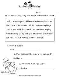 printable reading comprehension test reading comprehension practice worksheet printable language