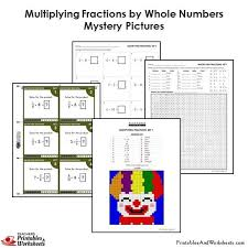4th grade multiplying fractions by whole numbers coloring