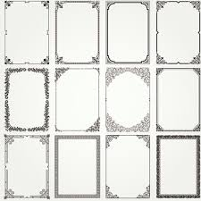 set black vector frames ornament free vector