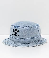 adidas originals light blue adidas originals light blue washed denim bucket hat zumiez