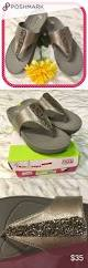 baretraps jeweled thong sandals size 8 new pewter shoes