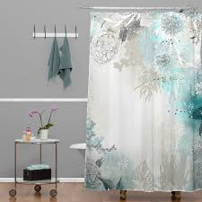 How Long Are Shower Curtains Bungalow Rose Holley Seafoam Extra Long Shower Curtain U0026 Reviews